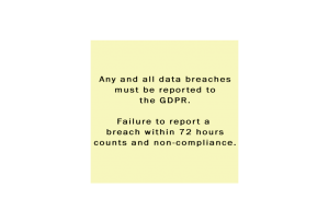 rule on data breach reporting for GDPR
