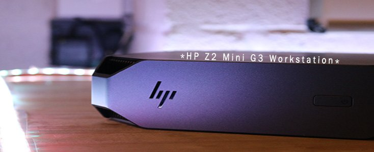 HP Z2 Mini G3 Workstation surrounded by white light