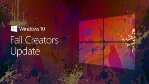 Paint Splattered background with Transparent Windows Logo on for Fall Creators Update banner